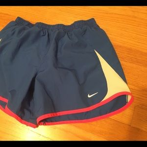 Girls Blue and pink nike athletic shorts